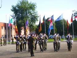 Les porte-drapeaux des différentes nations
