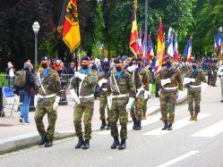 Drapeaux du Jägerbataillon et 501 RCC